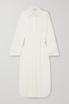 LE 17 SEPTEMBRE Belted Linen-blend Shirt Dress - Ecru