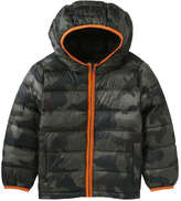 Joe Fresh Toddler Boys' Camo Puffer Jacket, Green (Size 2)