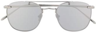 Linda Farrow Aviator Circular Sunglasses