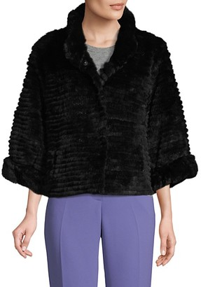 Belle Fare Rabbit Fur Bolero Jacket
