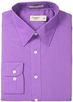 Haggar Men's Regular-Fit Poplin Solid Long-Sleeve Dress Shirt