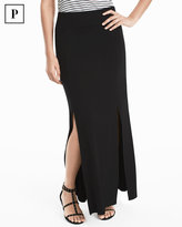 White House Black Market Petite Black Knit Maxi Skirt