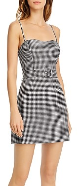 French Connection Belted Gingham Dress
