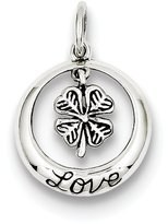 1928 Gold and Watches Sterling Silver Antiqued Shamrock Love Charm