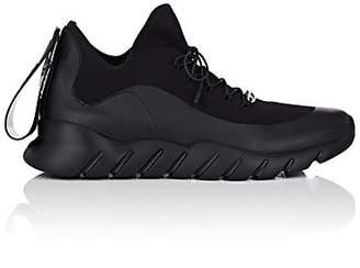 Fendi Men's Rubber-Strap Tech-Knit Sneakers - Black