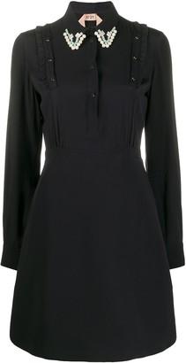 No.21 Embellished-Collar Dress