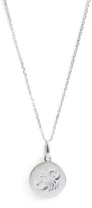 Anzie Sterling Silver Scorpio Zodiac Pendant Necklace