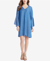 Karen Kane Bell-Sleeve Denim Shift Dress