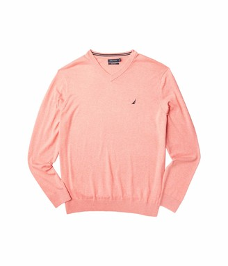 Nautica Big & Tall V-Neck Navtech Sweater Red 4X