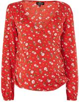 Topshop MATERNITY Floral Print Crinkle Blouse