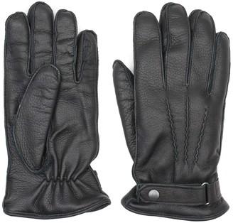 Dalgado Handmade Deer Leather Gloves Black Alessio