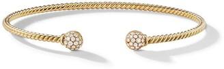 David Yurman 18kt yellow gold Petite Solari Bead diamond bracelet