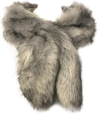 Hotstylezone Women Ladies Winter Faux Fur Scarf Neck Warmer Wrap Collar Shawl Stole Long (Light Grey)(Size: One Size)