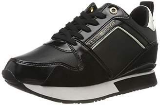 Tommy Hilfiger Women's Leather Wedge Sneaker Low-Top, ()