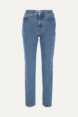 Christopher Kane Crystal-embellished High-rise Straight-leg Jeans - Blue