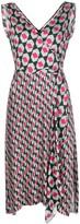 Diane von Furstenberg wrap front geometric print dress