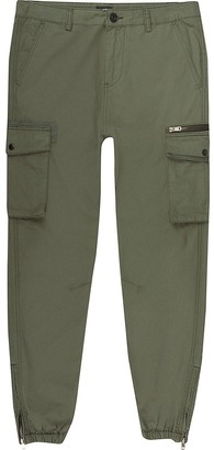 River Island Big and Tall khaki skinny fit cargo trousers