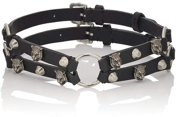 Gucci Men's Studded Leather Choker