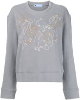 Minjukim - embroidered detail sweatshirt - women - Cotton - One Size