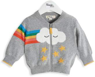 The Bonnie Mob Baby Girl's Goofy Cotton & Cashmere Sweater