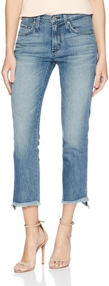 James Jeans Women's Hi-lo Straight Stepped Hem High Rise Jean in Velocity 24