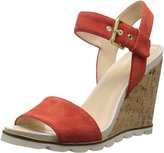 Nine West Women's Gronigen Suede Wedge Sandal