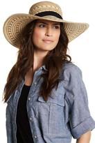 BCBGMAXAZRIA Woven Pompom Detail Hat