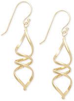 Giani Bernini 24k Gold over Sterling Silver Earrings, Swirl Drop Earrings