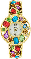 Elgin Multicolor Stone Bangle Watch