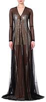 Marios Schwab Sequin-embellished mesh gown