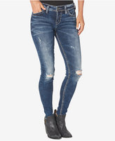 Silver Jeans Co. Ripped Suki Skinny Jeans