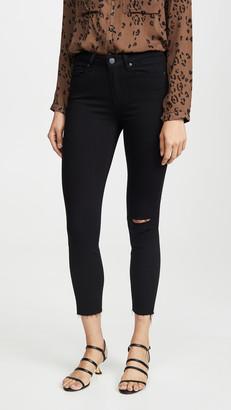 Paige Hoxton Raw Hem Crop Jeans