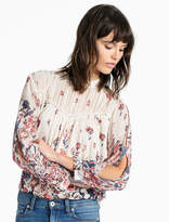 Lucky Brand Floral Mix Print Top