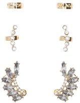 Charlotte Russe Embellished Ear Crawler & Ear Cuffs - 3 Pack