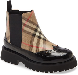 Burberry Mini Doug Vintage Check Chelsea Boot