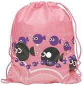 Thinkbay Unisex Boys Men Children PE Sport Swimming Gym Beach Travel Drawstring Backpack Bag Smile Face Blue