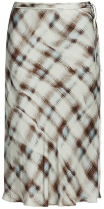Proenza Schouler White Label Hammered Charmeuse Midi Skirt