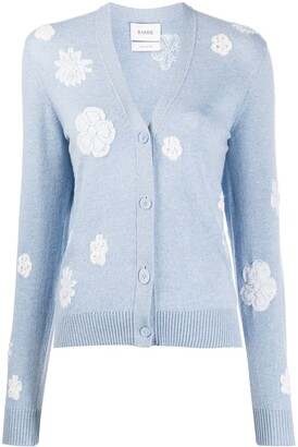 Barrie Flower Pattern Cardigan