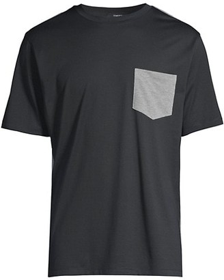 Theory Standard-Fit Combo Pique Pocket T-Shirt
