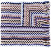 M Missoni zigzag knit scarf