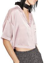 Topshop PETITE Crop Pyjama Shirt