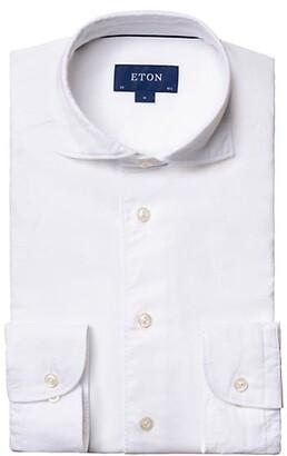 Eton Contemporary-Fit Cotton & Silk Soft Casual Shirt