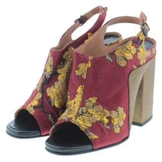 Dries Van Noten Red Cloth Sandals