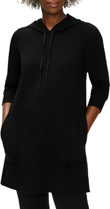 Eileen Fisher Petite Organic Cotton Stretch Jersey Hooded Dress
