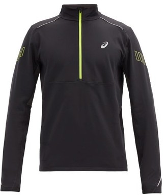 Asics Lite Show Half-zip Stretch-jersey Top - Black