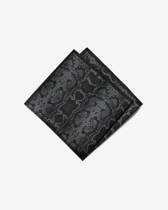 Express Snakeskin Print Silk Pocket Sqaure
