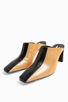 Topshop JUDY Leather Elongated Mules