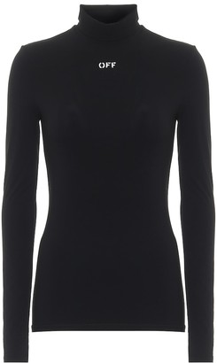 Off-White Stretch-knit turtleneck top