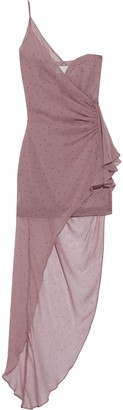 Mason by Michelle Mason One-shoulder Draped Polka-dot Silk-chiffon Dress