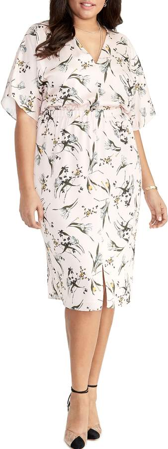 Cait Tea Rose Print Dress